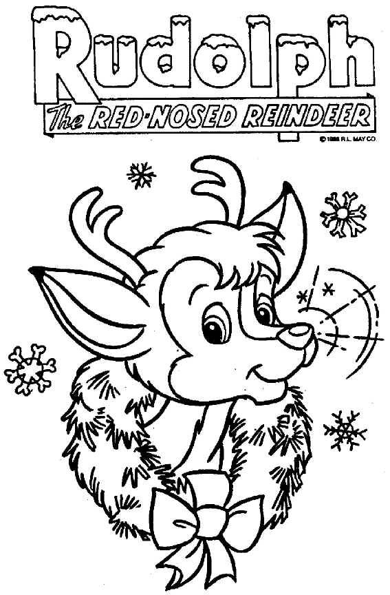 rudolph color sheet | Christmas coloring sheets, Christmas ...