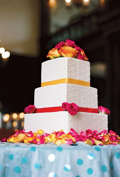 Orange Wedding Cakes Photos