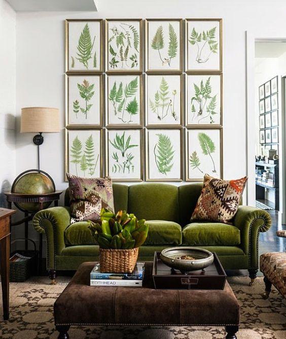 Rooms: Vintage Fern Red Green Instant Download By Lebonprintables