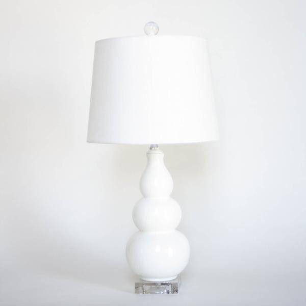 Triple Gourd Ceramic Lamp Lamp Ceramic Lamp Linen Lamp Shades