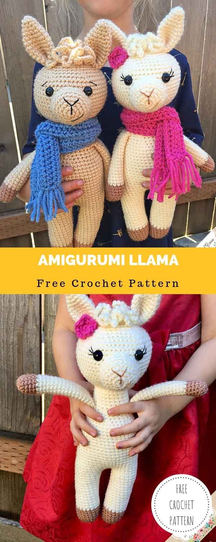 Amigurumi Llama [FREE CROCHET PATTERN] - Daily Crochet Patterns