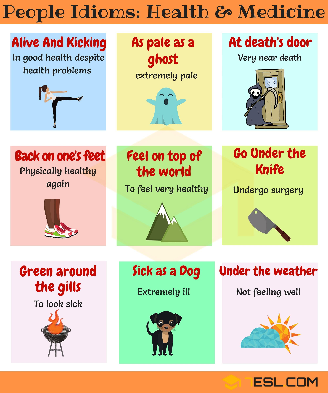 Health Idioms 30 Useful Health And Medicine Idioms