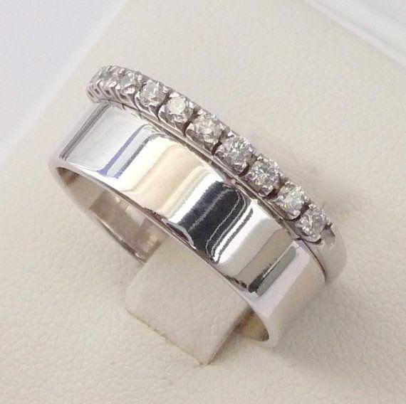 Wedding rings set engagement diamond eternity ring wedding band white gold on Etsy, $897.51 AUD