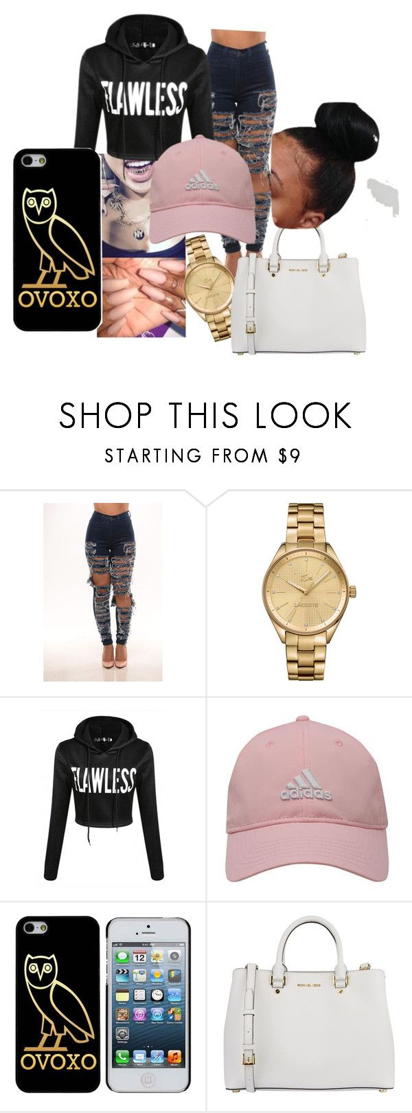 """let's go"" by jayladenise ❤ liked on Polyvore featuring Lacoste, adidas Golf and MICHAEL Michael Kors"