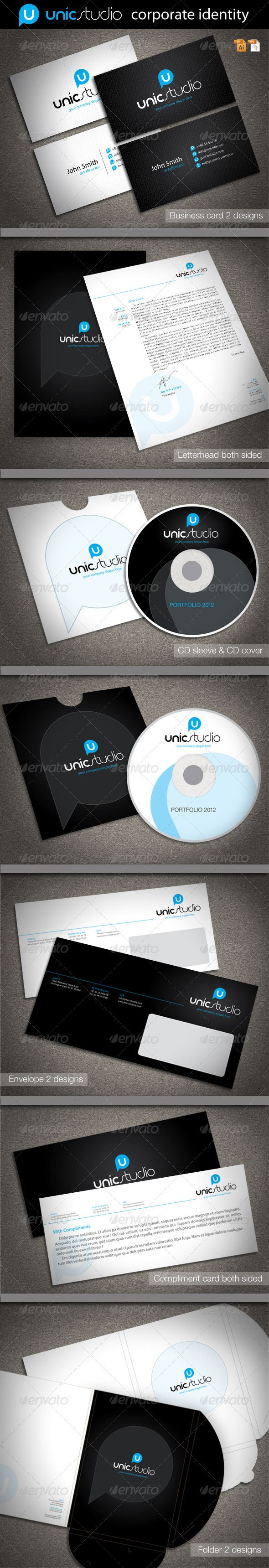 Unic Studio Corporate Identity  Corporate Identity Stationery