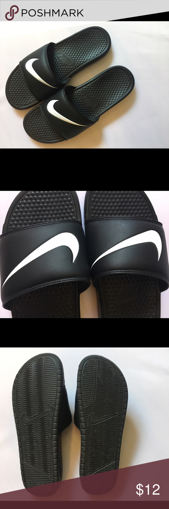 the best attitude 728fe ff595 REDUCED Nike Benassi Swoosh Slide Mens Sz 12 Nike Benassi Swoosh Slide -  Mens The Nike Benassi Swoosh is a sports massage slide for the ultimate in  ...