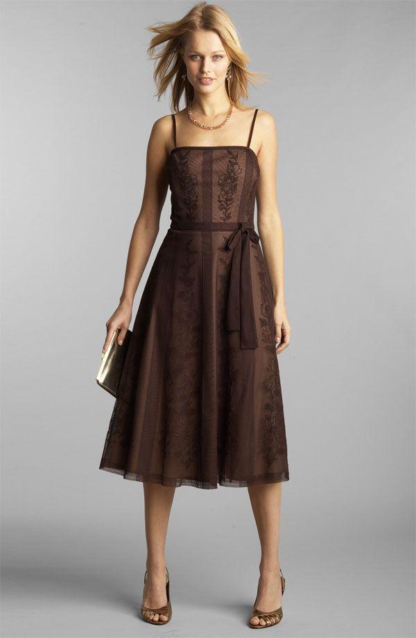 Chocolate Colored Bridesmaid Dress