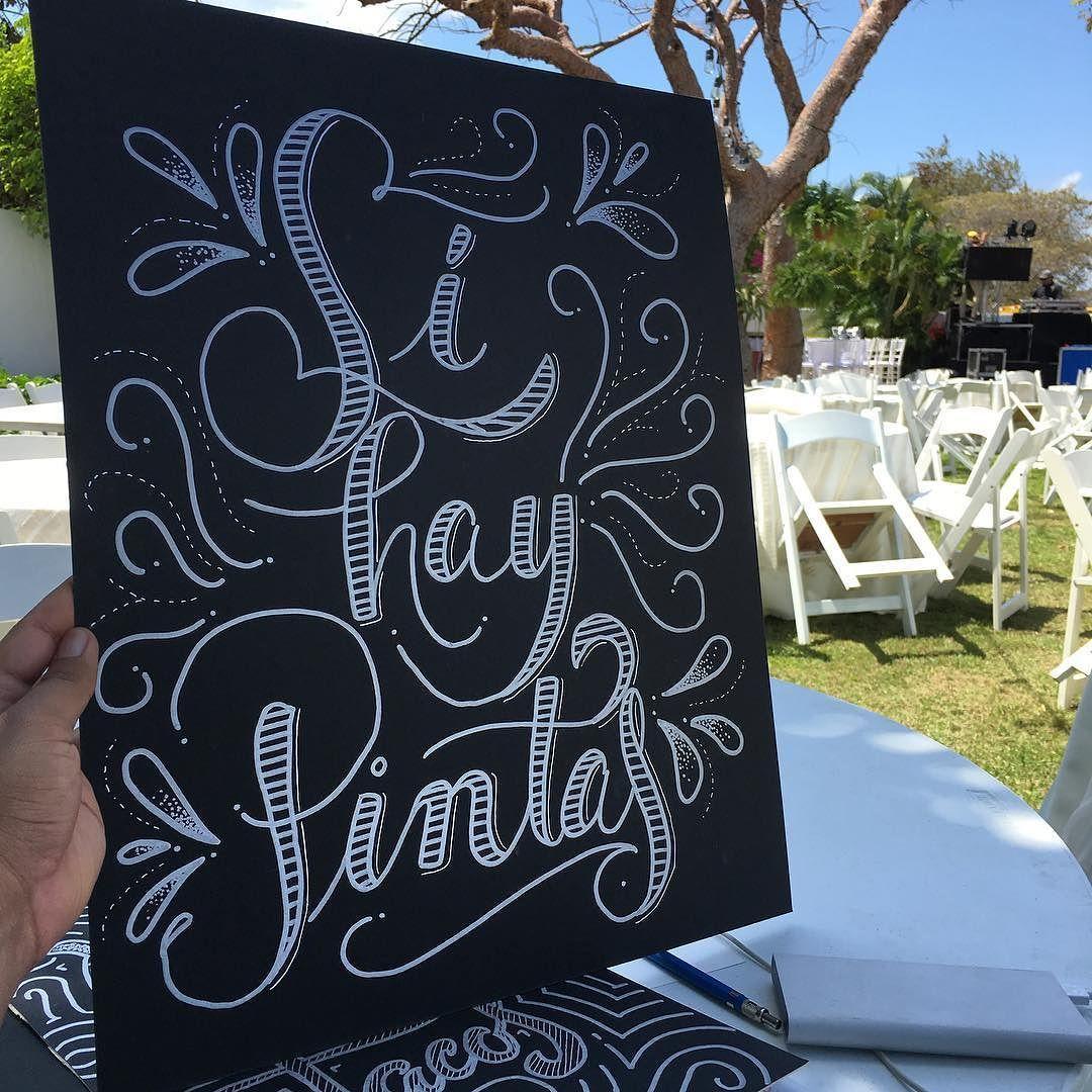 sábado de lettering para boda de verano. . #handlettering #handmade #calligraphy #brushlettering #artoftype #panama #pty #handwriting #pintas #verano #summer