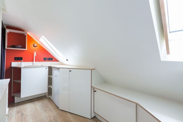 Studio Paris 2  chambre de bonne optimisée et modernisée