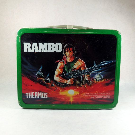 1985 Rambo Lunchbox - Part of Ariel Hyatt's of @CyberPR s collection - totally 80s - clearly designed for boys