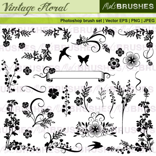 This is a carefully put together set of 29 vintage style floral ...