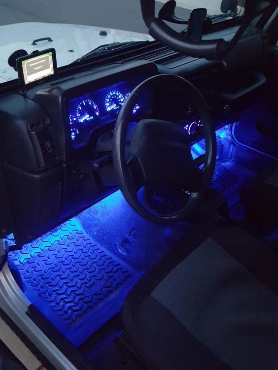 Axial 15 Inch Led Strips Blue Jeep Wrangler Yj Wrangler Car