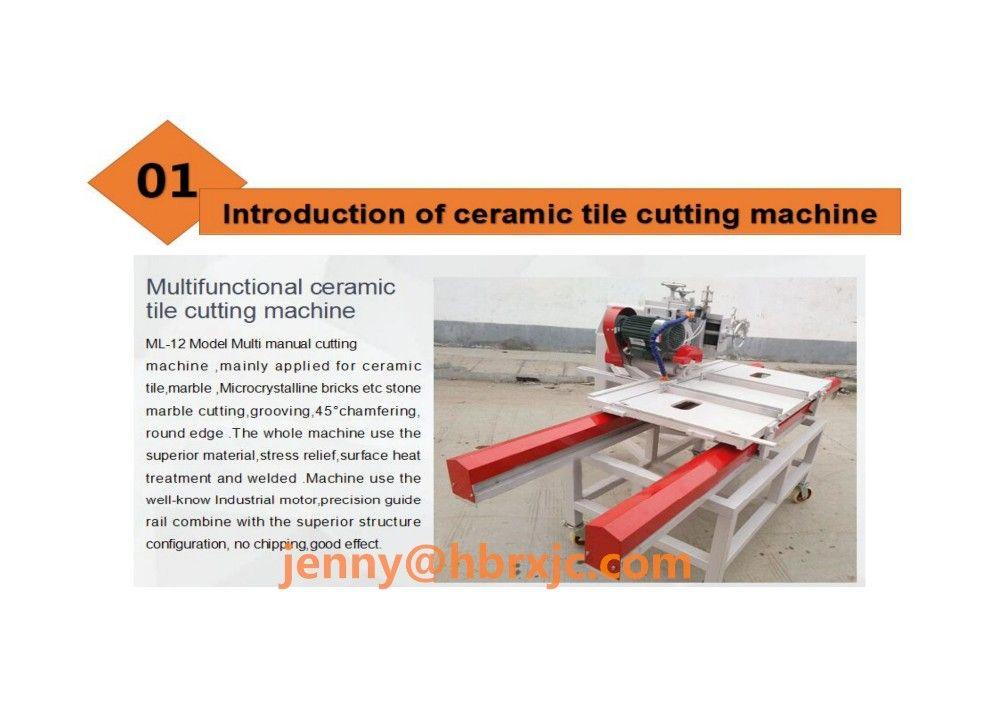 Multi Manual Ceramic Tile Cutting Machine Wet Saw Tile Cutter