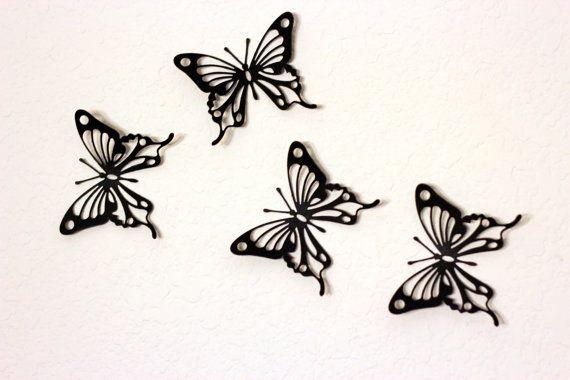 Halloween decor, Butterfly wall decor, Black Wall decor, Nursery ...
