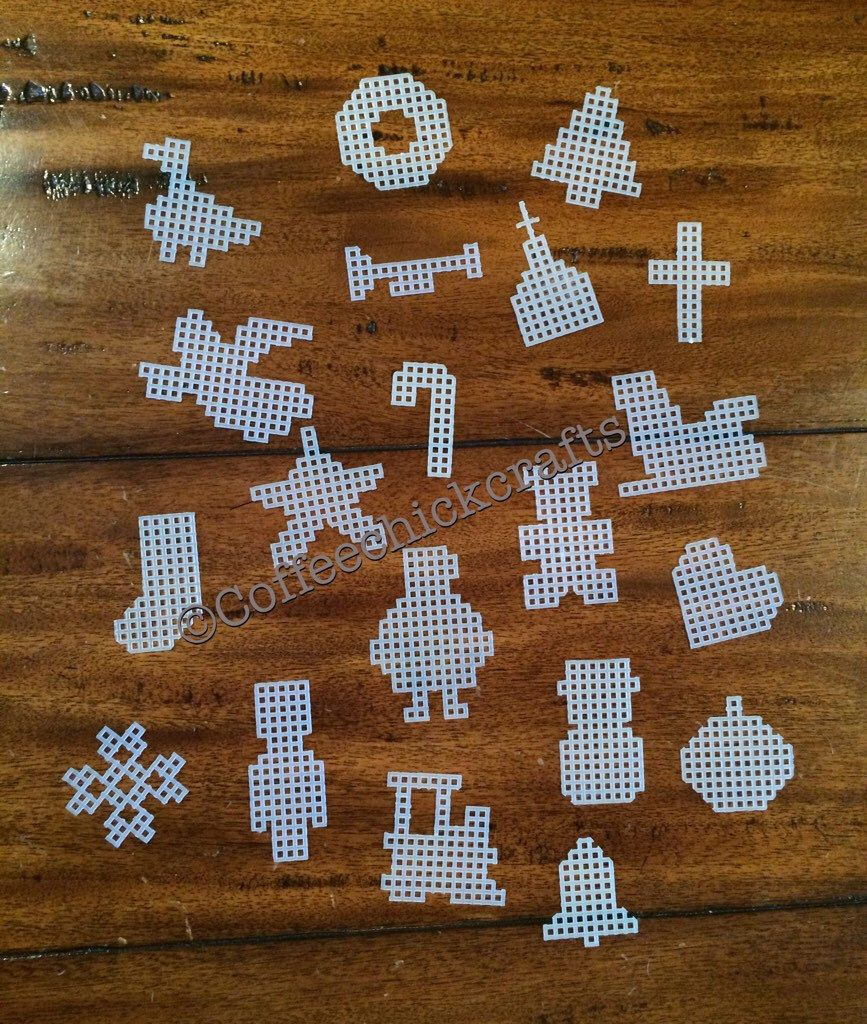 Plastic canvas Christmas Shapes great for magnets set of 20 https://www.etsy.com/listing/462441154/20-christmas-plastic-canvas-cut-out-set