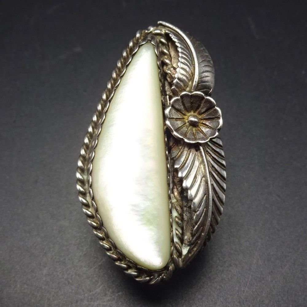Vintage Sterling Earrings With Mother Of Pearl Jewelry Native American Jewelry Ethnic Jewelry
