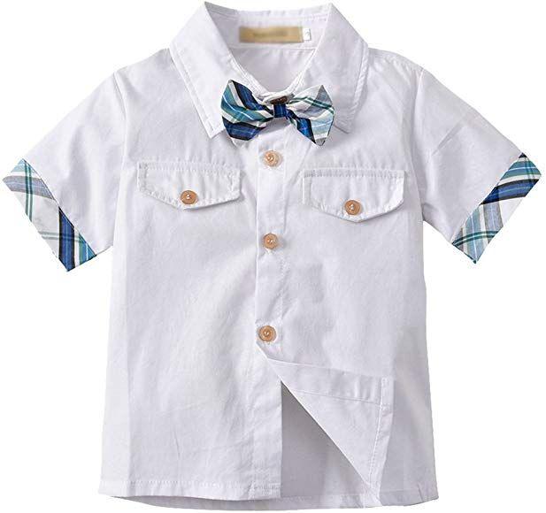 Kauf echt populärer Stil am besten kaufen LvRao Kinderhemd Baby-Jungen Hemd mit Fliege Kurzarm Revers ...