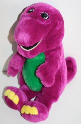 Barney Plush Dinosaur Stuffed Toy Large 16 Animal Plastic Eyes Soft