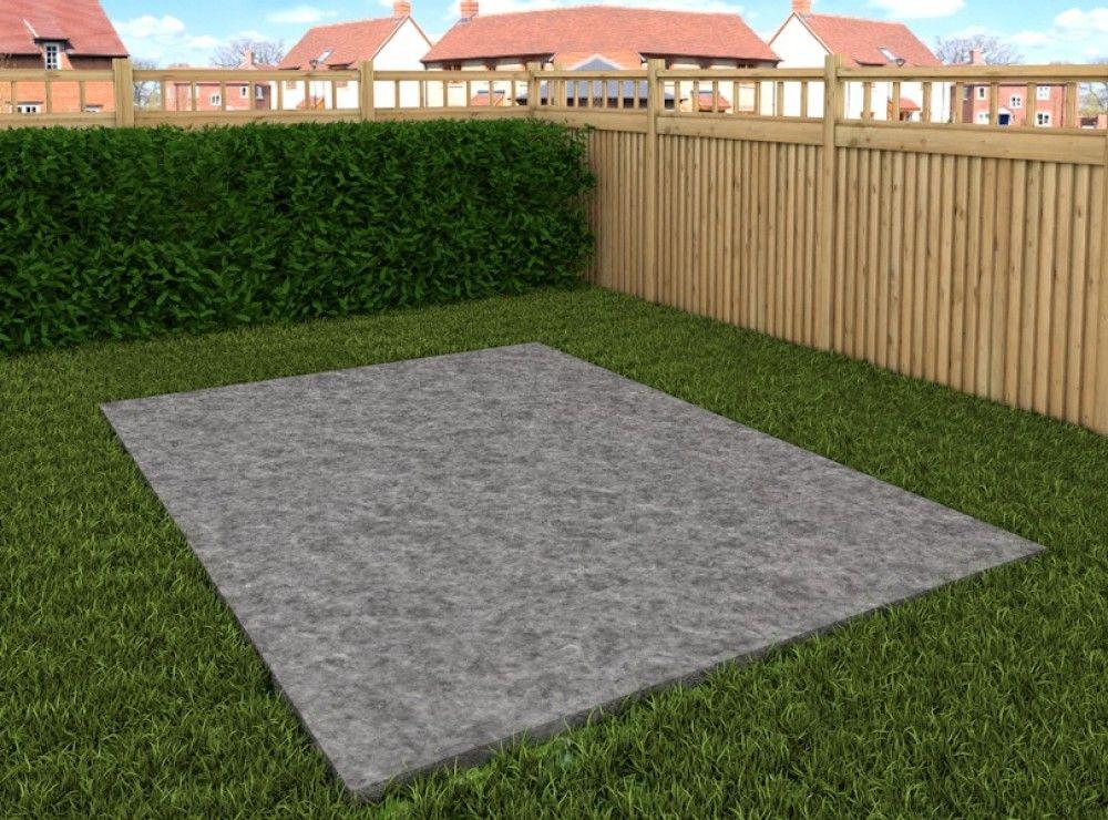 Fundamente für Gartenhaus, Grill und Co. Plane Dein