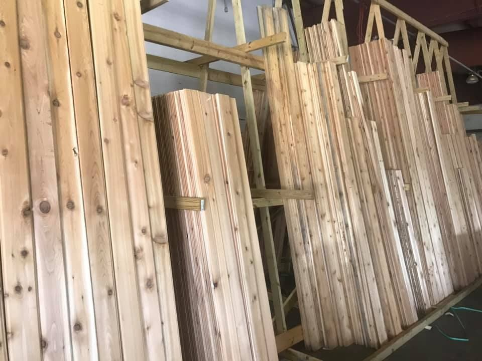 Need Some Cedar 1x6 And 1x8 Tongue And Groove Fineline Shiplap And More Profiles Available At Great With Images Decking Material Outdoor Living Deck Composite Decking