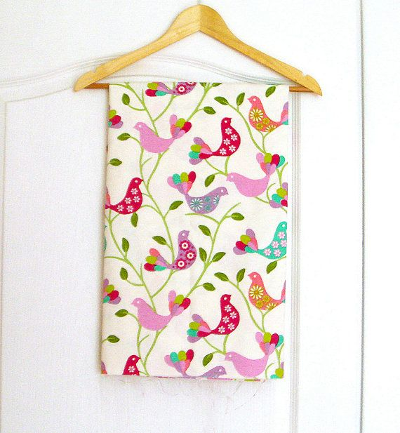Thick cotton birds print  fabric large breadth by fabricute