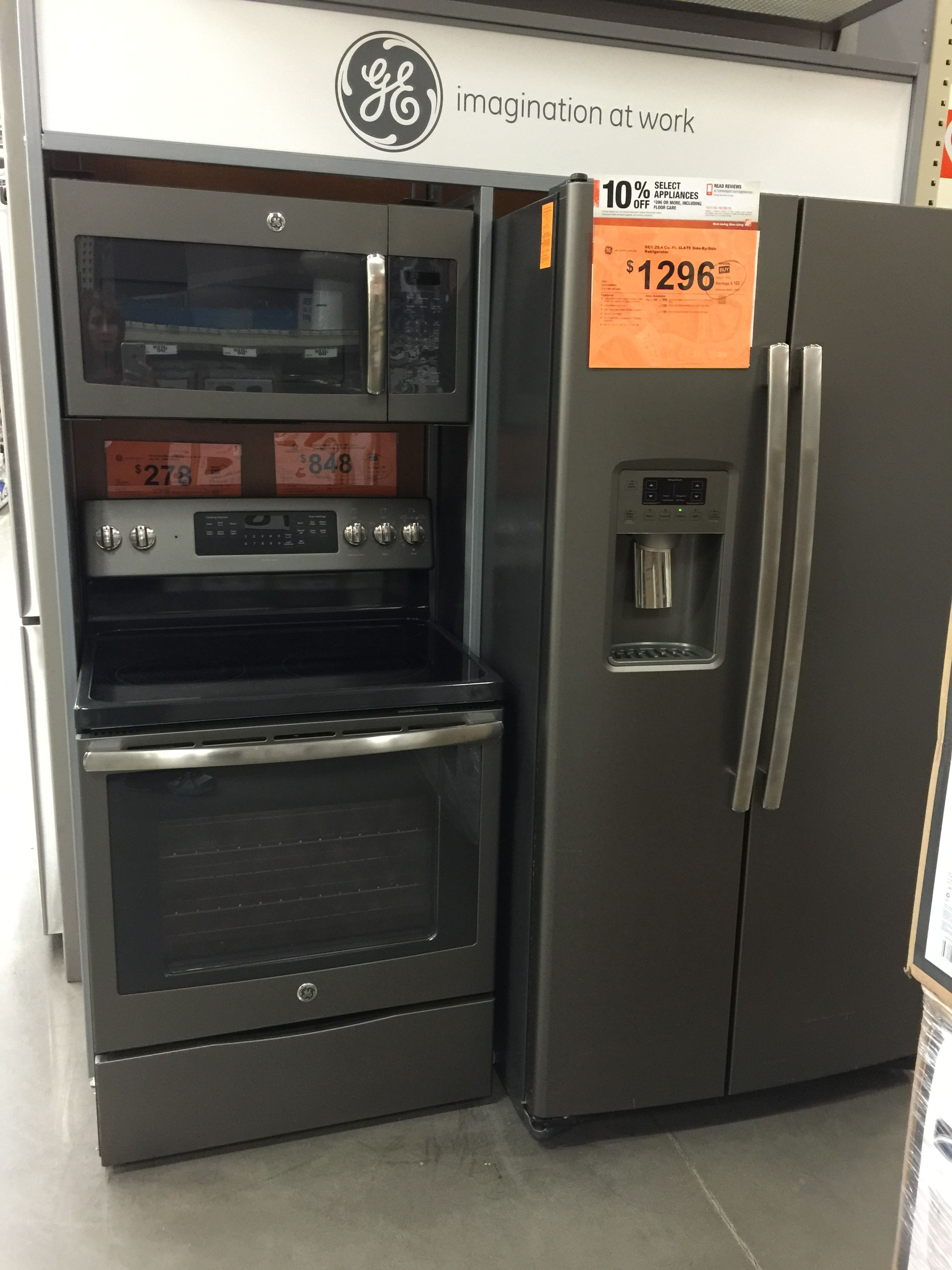 GE SLATE Colored Fridge, Microwave, And Oven.Beautiful And Not As Pricey As  Stainless Steel!