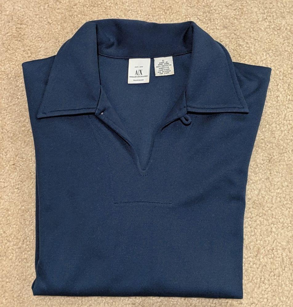 a4a6ab56 Armani Exchange   Long sleeve fashion shirt   Navy Blue   Men's small slim  fit #