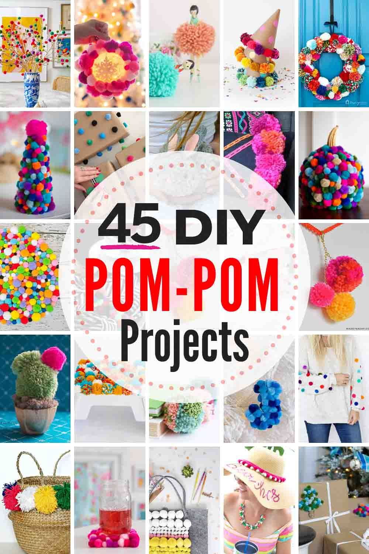 45 Adorable Diy Pom Pom Projects To Try Pom Pom Crafts Diy Pom Pom Rug Diy Pom Pom