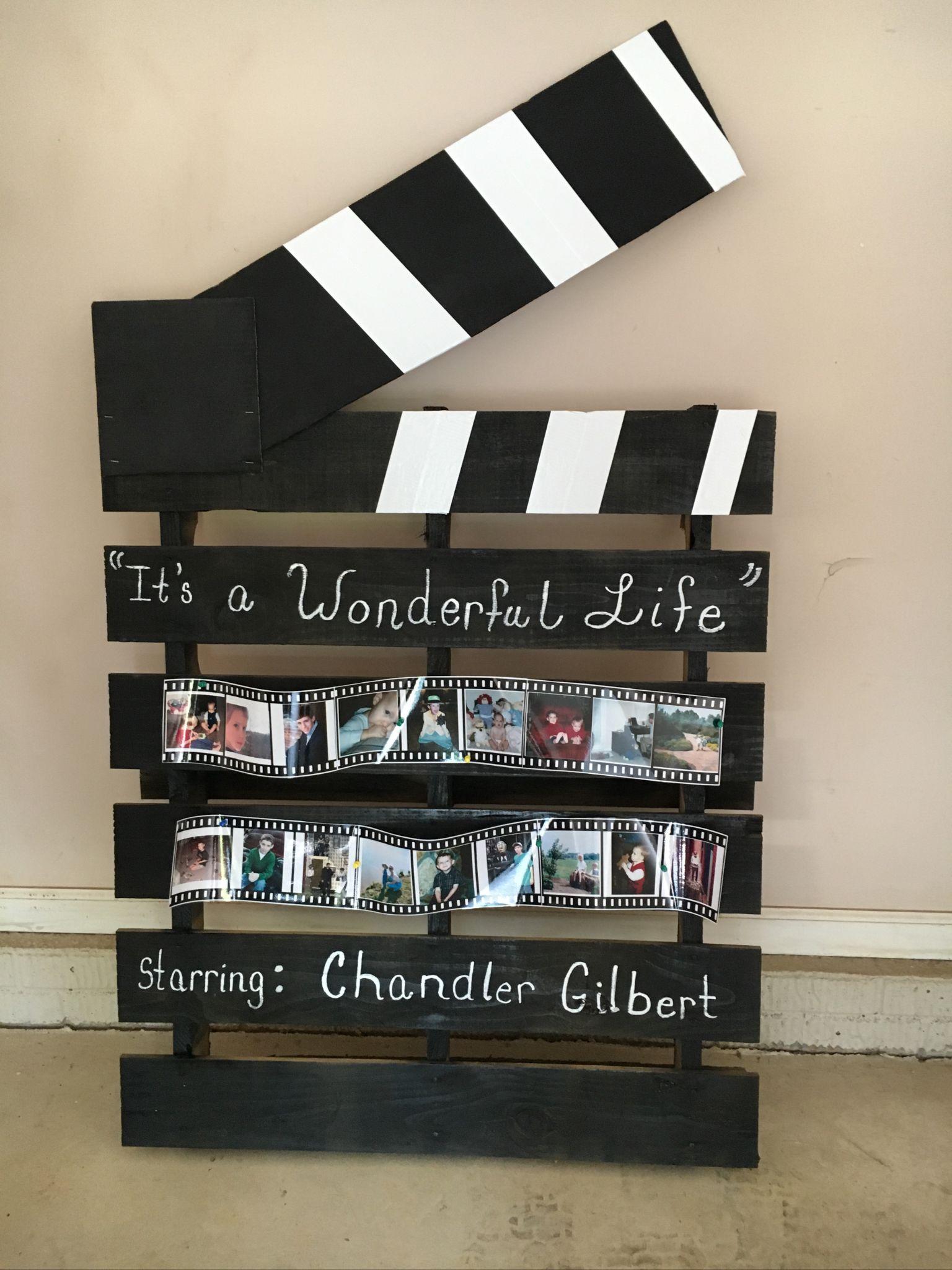 Movie clapper wood pallet graduation decoration. | Wood ...