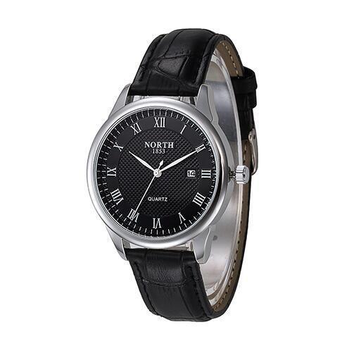 Reloj De Cuarzo De Lujo Cuero Genuino Resistente Al Agua Para Hombre Reloj De Hombre Reloj Reloj De Cuarzo