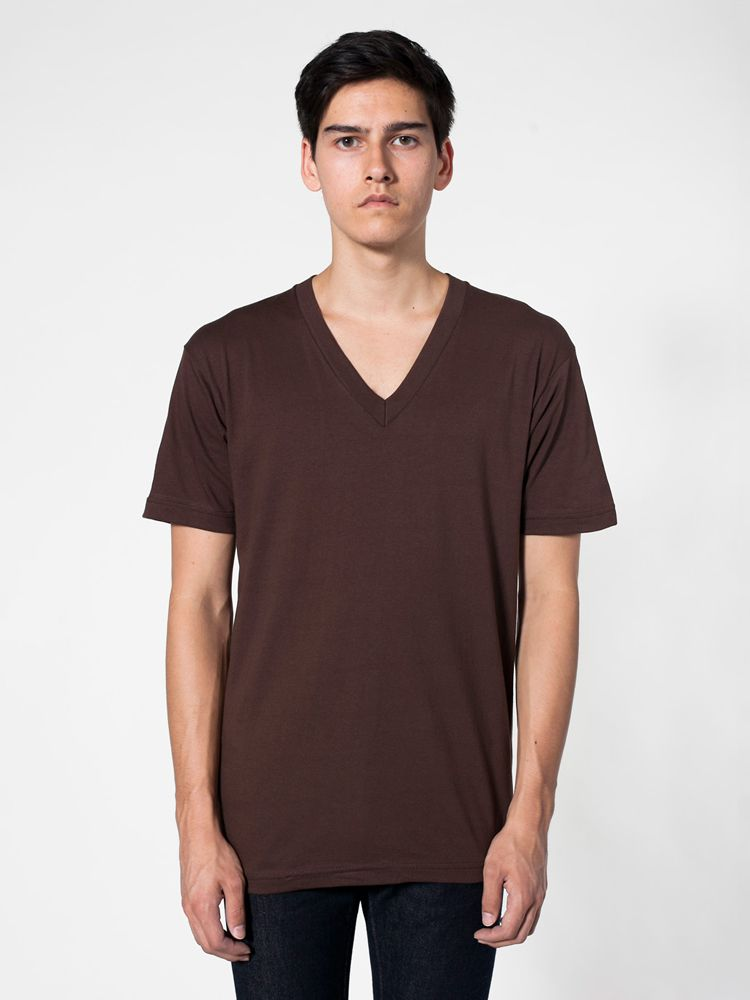ab981d8207 4.3 oz. 100% Fine Jersey cotton. The softest, smoothest, best-looking V-neck  T-shirt available anywhere.