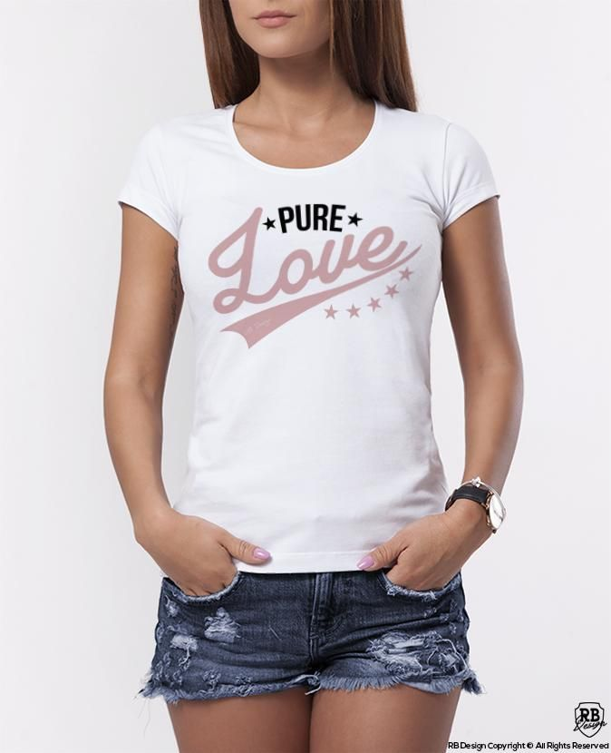 b99e63a6 Pure Love Cute Women's Designer T-shirt WD315 in 2019 | Trendy ...