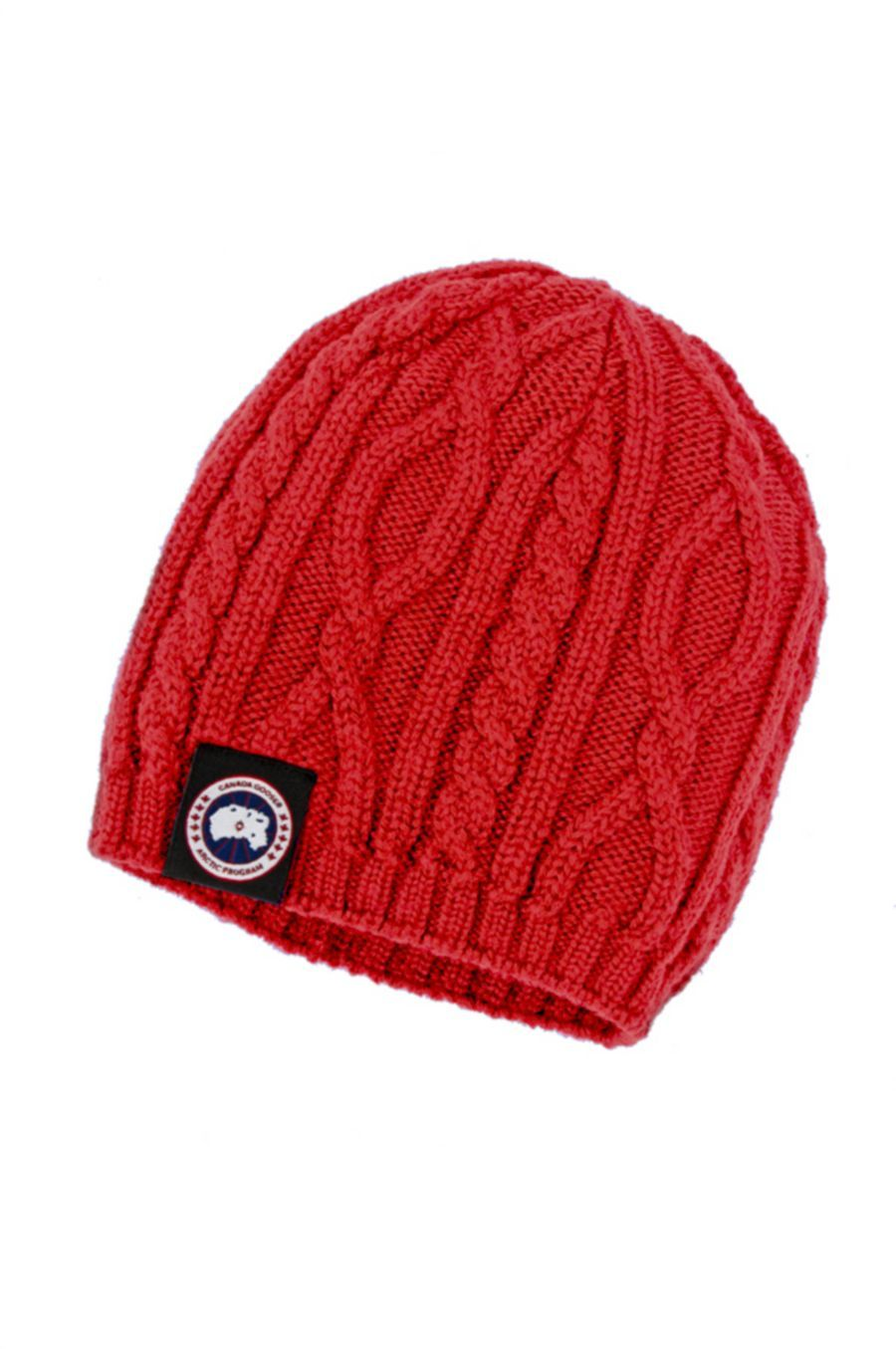 Canada Goose Cable knit beanie in red Kids clothing canada