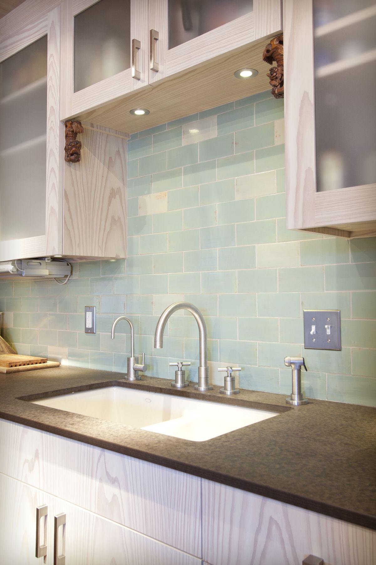Mercury Mosaics 3x6 Seafoam Handmade Tile Handmadetile