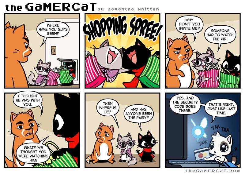 Bad babysitter with images gamer cat fun comics