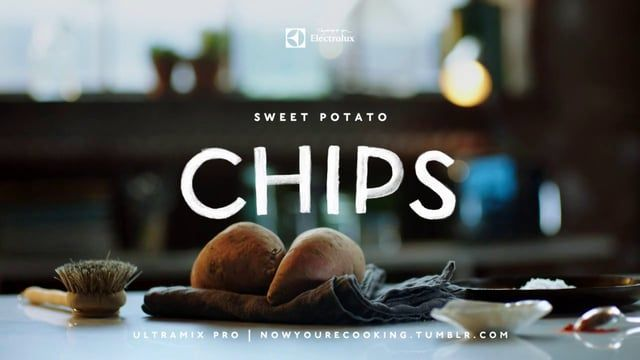 http://nowyourecooking.tumblr.com/  The sweet potato is a distant relative of the potato. And of the two, the sweet one is actually very good for you (not to mention tastier). In some states of America a popular thanksgiving dish is sweet potato and marshmallow casserole, but we decided to stick with chips…