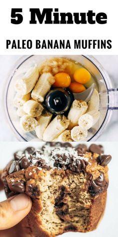 Paleo Gluten Free Blender Banana Muffins - Paleo G