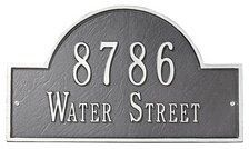 """Whitehall One Line Architectural Marker - Standard Lawn Plaque (1105-LP) by Whitehall Products. $108.99. Cast Aluminum One Line Architectural Standard Lawn Plaque - 15.75"""" x 9.25"""" - Each plaque is crafted from rust-free recycled aluminum. Paints have been specially formulated and weather tested to withstand the harshest elements. Line 1 - 5 - 3"""" characters or 17 - 1.25"""" characters."""