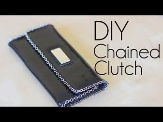 DIY Fashion: Chained Clutch - YouTube