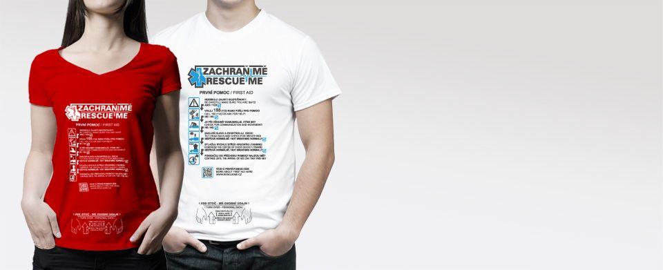 RESCUE ME - Triko, které zachrání život je projekt podporovaný Asociací Zdravotnických Záchranných S