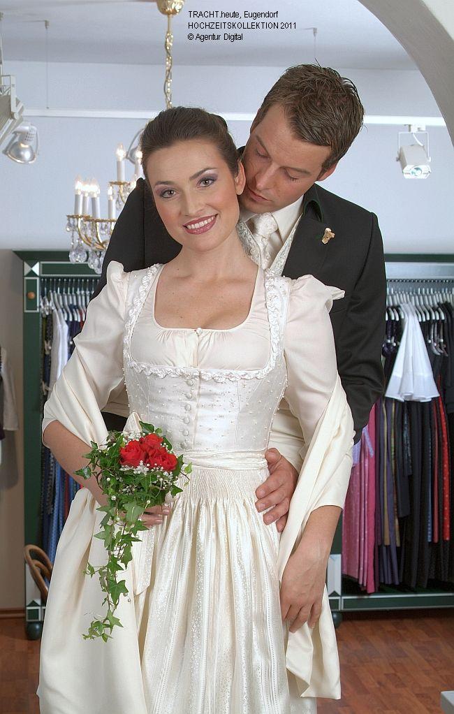 Modest wedding dress. German dirndl. Gössl Brautdirndl ...