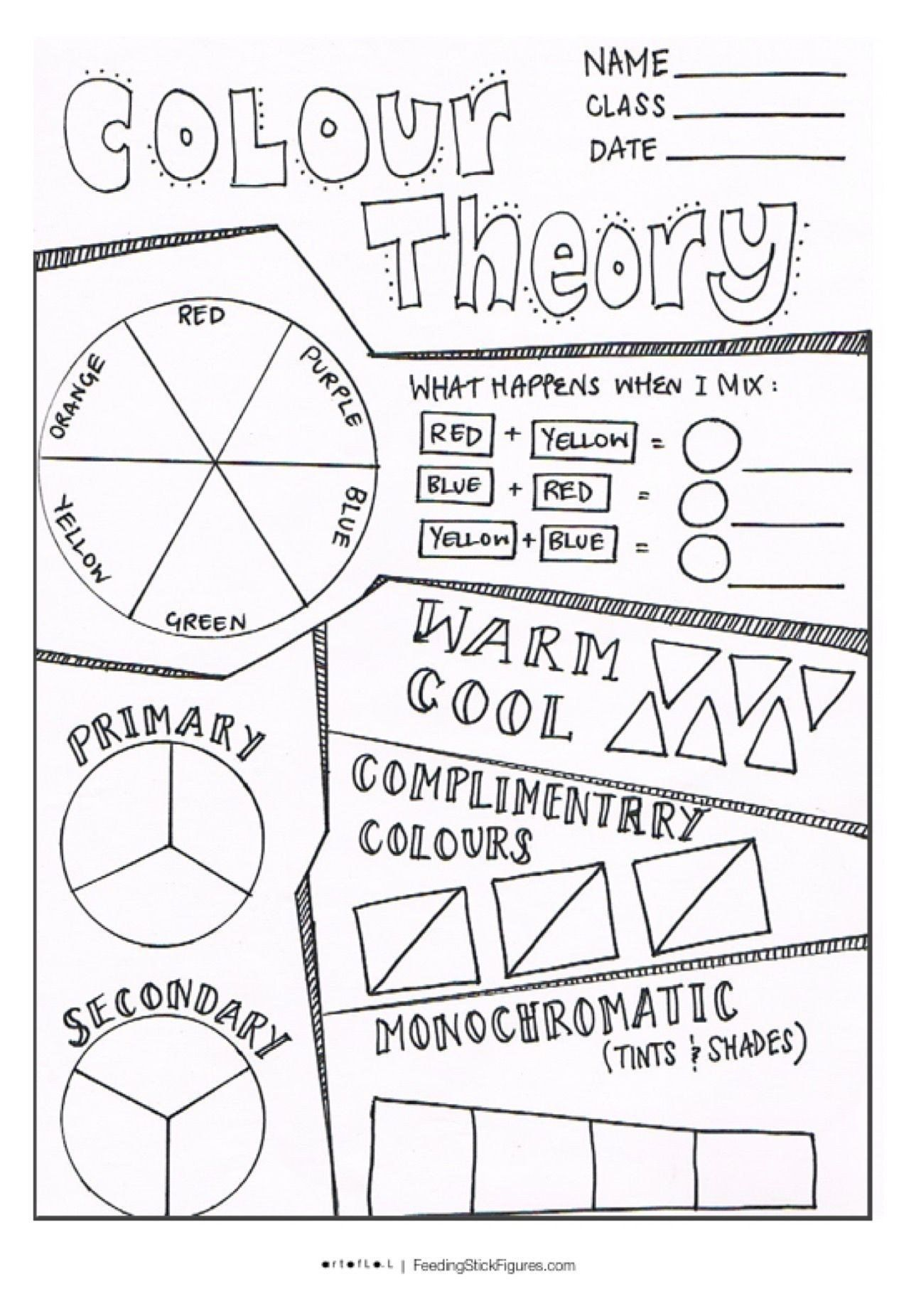 Color Theory Worksheet Answer Key 112 Best Color Lessons