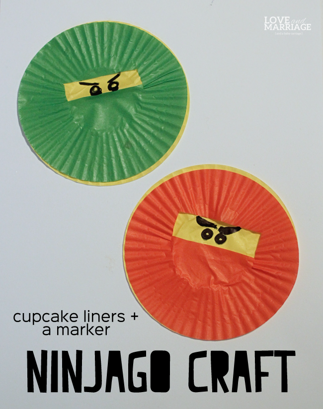 Make your favorite Ninjago characters from cupcake liners.