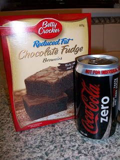 365 DAYS OF PINTEREST CREATIONS: day 185: diet coke fudge brownies!