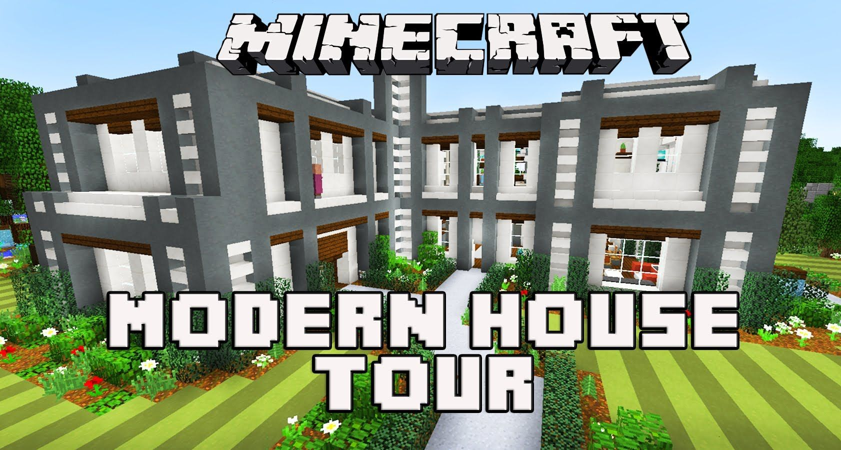 Minecraft: Modern House Tour | Minecraft | Pinterest | Minecraft ...