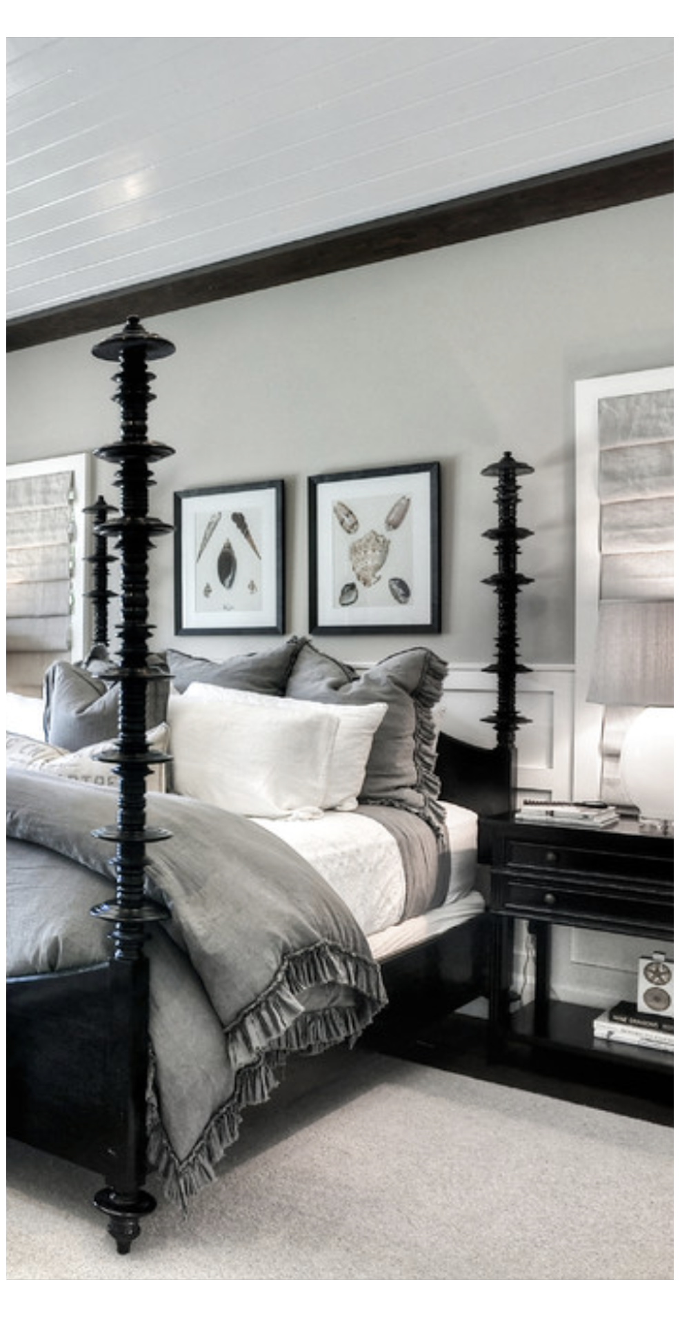 Gray And Black Bedroom Furniture Grayandblackbedroomfurniture Gray White And Black Bedroom In 2021 Gray Master Bedroom Black Bed Frame Black Master Bedroom