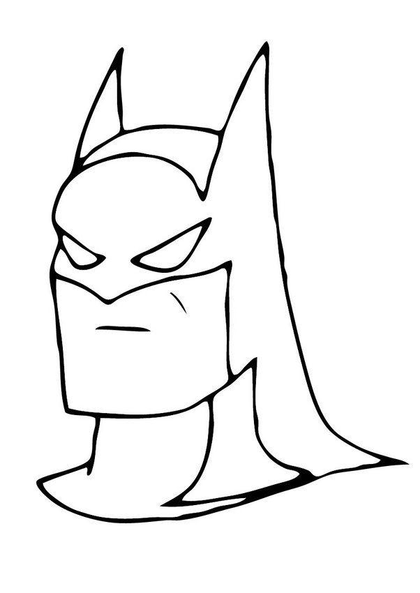 Coloring page of the Mask of Batman. More free coloring pages on ...