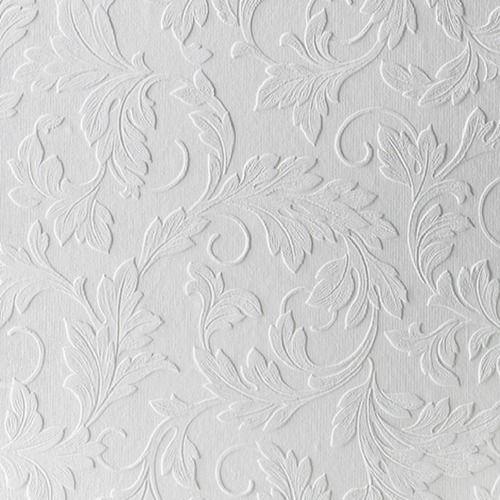 Graham Brown Large Scrolling Leaf Paintable Wallpaper Paintable Wallpaper Paintable Textured Wallpaper White Wallpaper