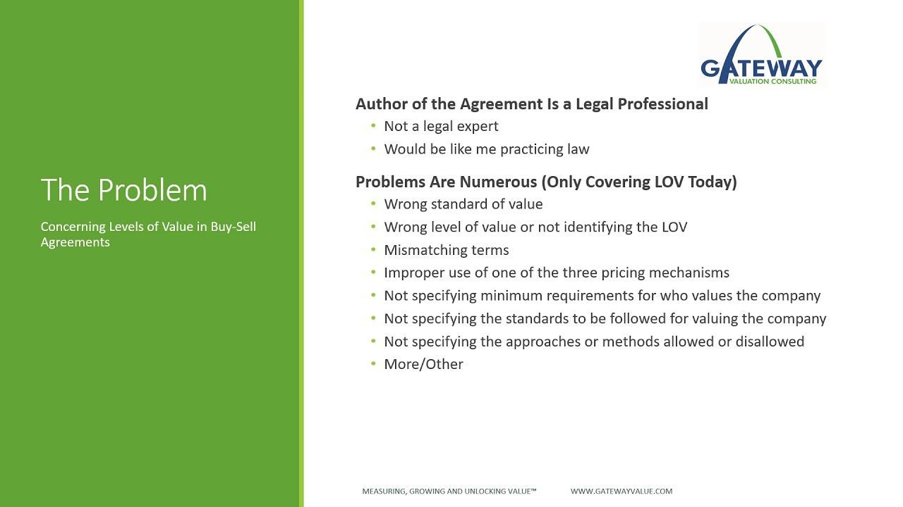 Why Your BuySell Agreement Won't Work A webinar examining