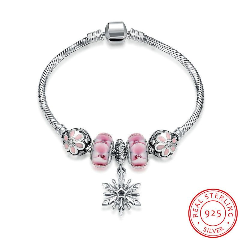 Find More Bracelets Bangles Information About Robira Snowflake